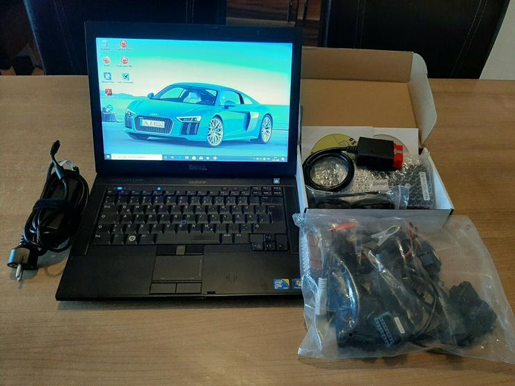 KFZ Diagnosegerät mit Bluetooth OBD2 + OBD1, PKW, LKW Inklu. Laptop und Kabelset