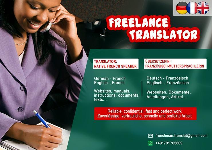 Übersetzung mit Französisch-Muttersprachlerin!