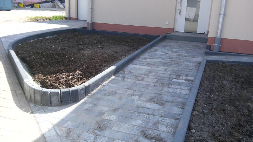 Pflastergestaltung Gartengestaltung Bagger Terrasse Hof
