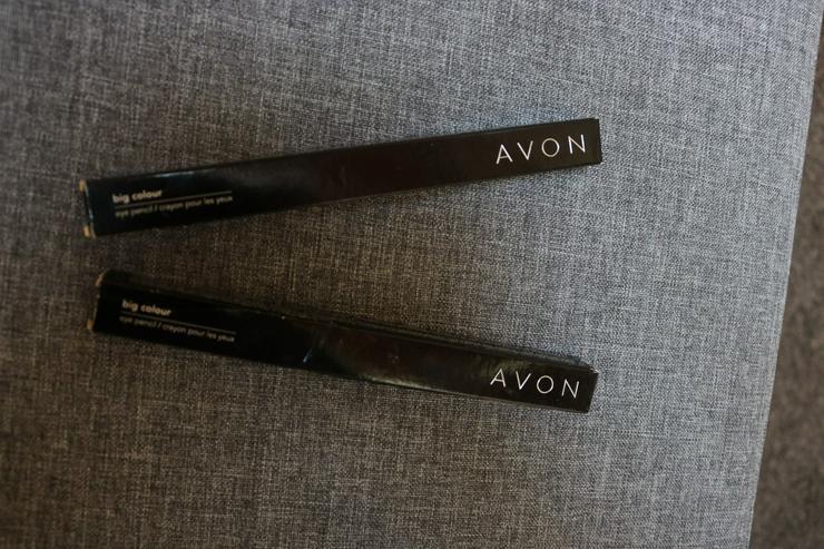 2 Stck. Lidschattenstift, blau-silber, Avon