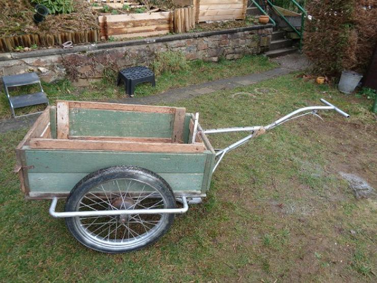 Sehr alter Bollerwagen Handwagen Luftbereift + Bremse Fahrbereit