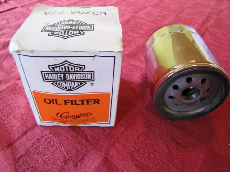 Bild 2: Original Harley-Davidson Ölfilter Chrom 63796-77A
