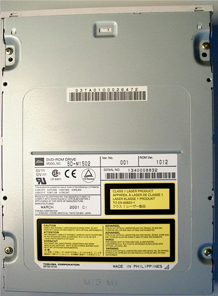 Bild 2: DVD Laufwerk Toshiba SD-M1502
