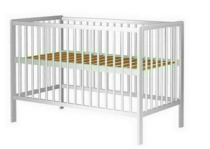 Gitterbett Babybett Kinderbett 60x120cm Höhenverstellung