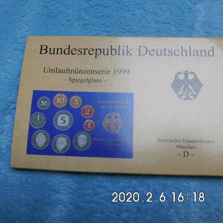 Umlaufmünzen 1999 D Spiegelglanz