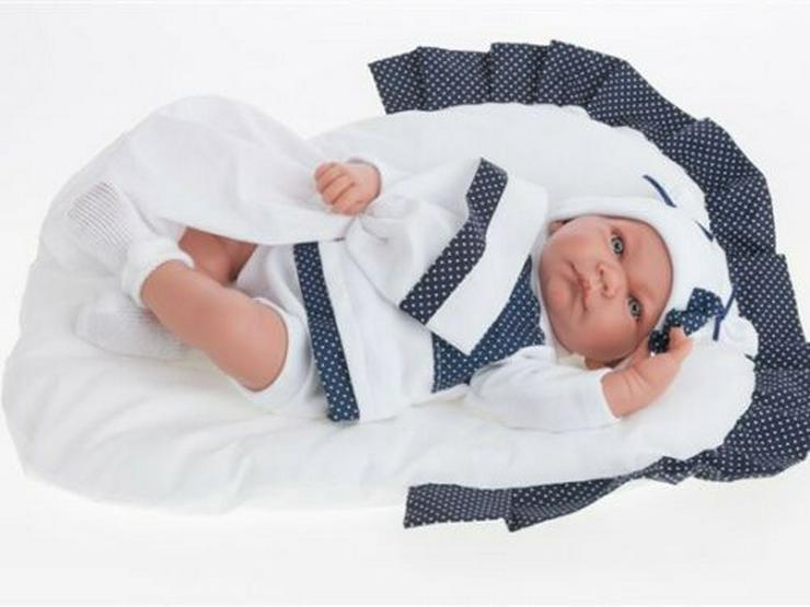 Antonio Juan Babypuppe Nica Cojin Azul mit Sprachmodul Puppen Baby