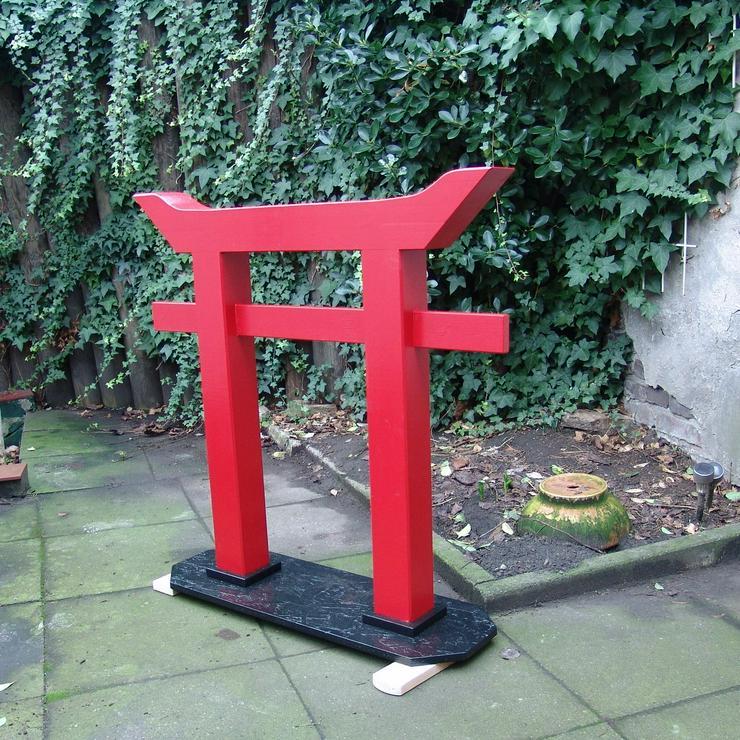 Torii, japanisches Tor, Gartendeko, Holz - Handarbeit - 1 Meter