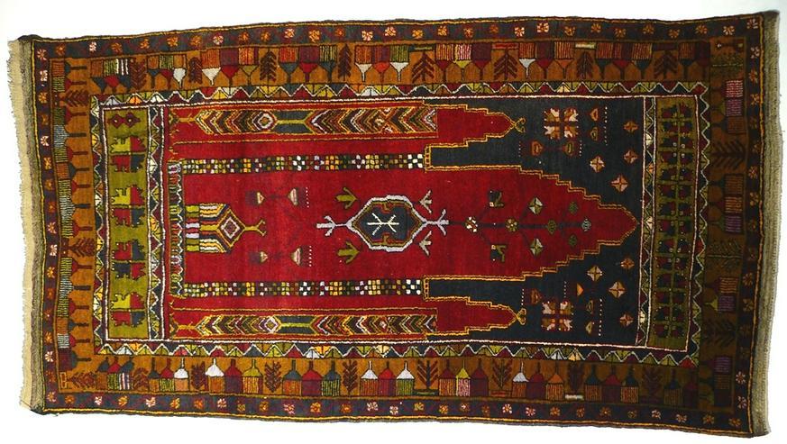 Orientteppich original Konya ca. 80 J. alt (T086)
