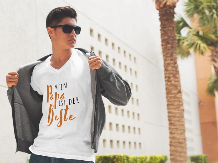 Familien T-Shirt: Mein Papa ist der Beste! - Größen 56-58 / XL - Bild 1