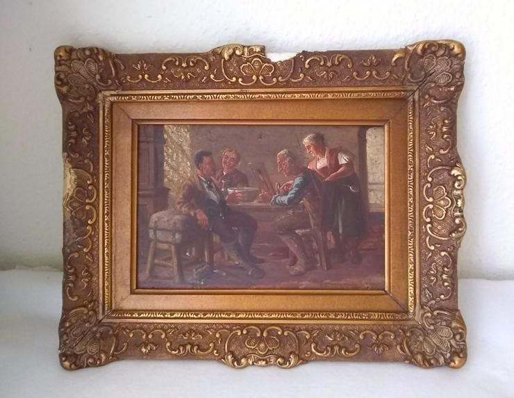 Kleines Gemälde. Wahrscheinlich im Jahr 1900.  Der Verkäufer - Bilderrahmen - Bild 1