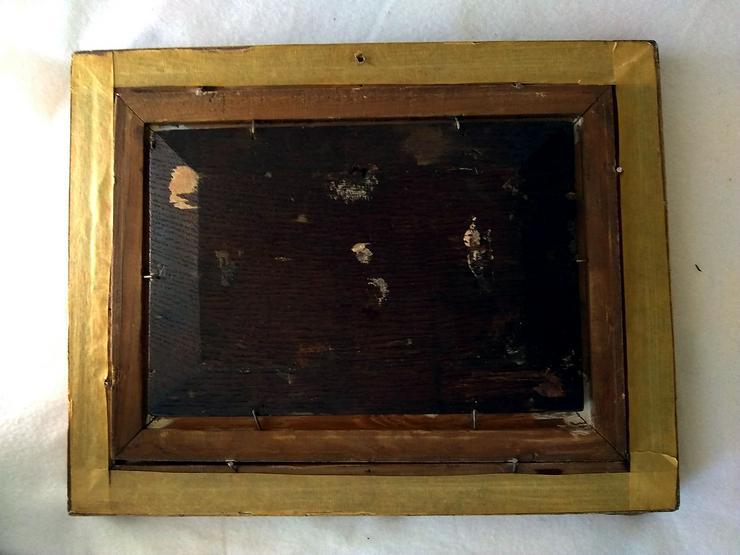 Bild 4: Kleines Gemälde. Wahrscheinlich im Jahr 1900.  Der Verkäufer
