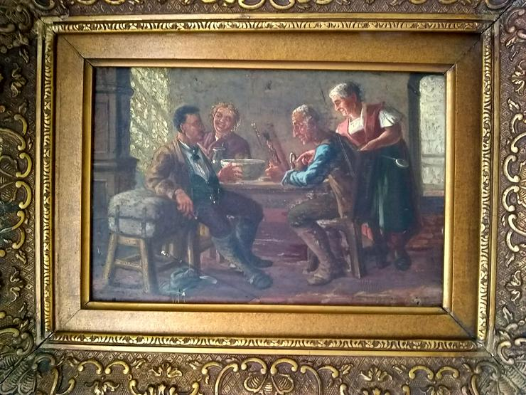 Bild 2: Kleines Gemälde. Wahrscheinlich im Jahr 1900.  Der Verkäufer