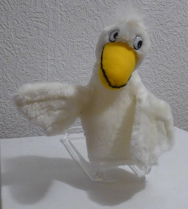 Handpuppe weisse Ente