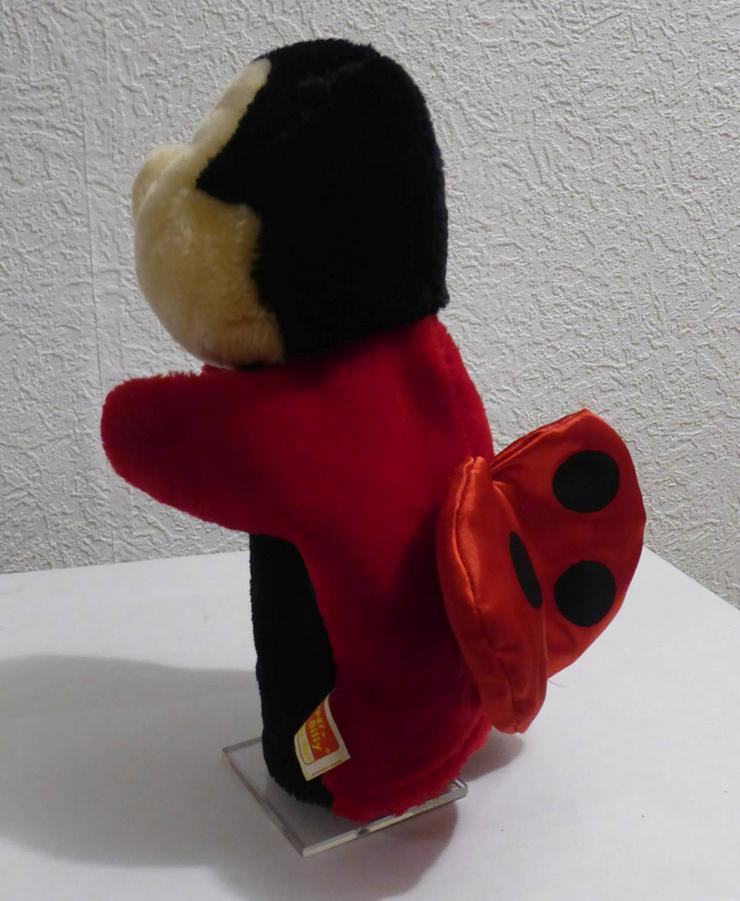 Bild 2: Handpuppe  Marienkäfer  rot/schwarz 26 cm hoch