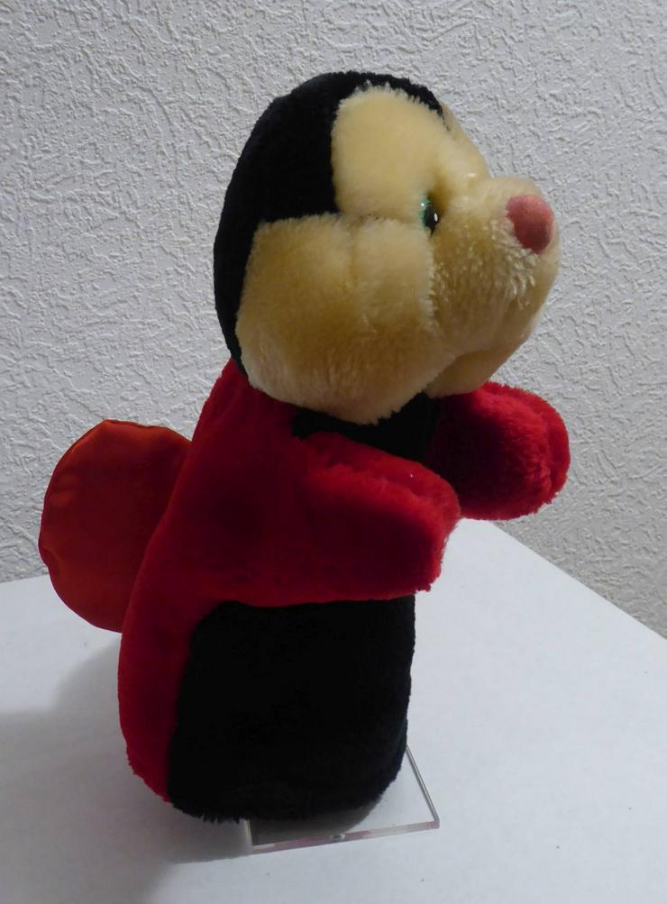 Handpuppe  Marienkäfer  rot/schwarz 26 cm hoch