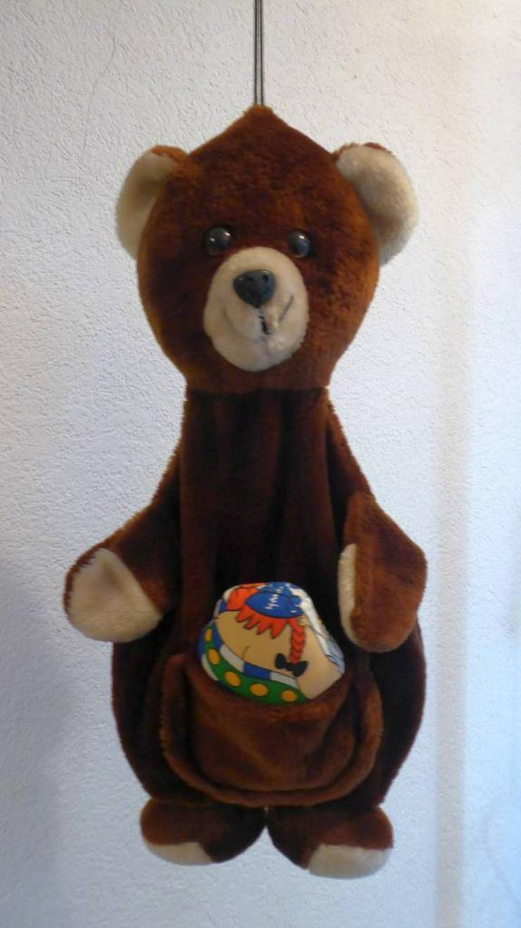 Plüschbär, 60 cm lang, zum Hinhängen mit Stauraum - Teddybären & Kuscheltiere - Bild 1