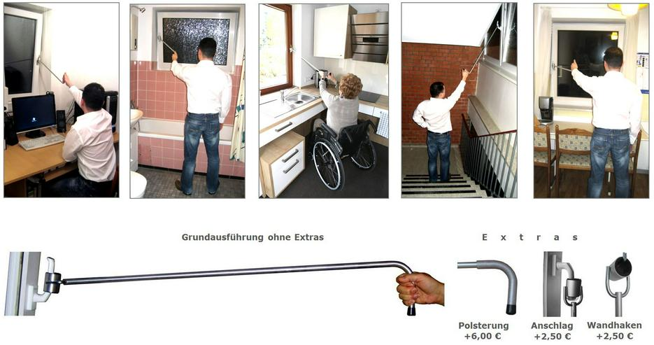 Fenstergriffverlängerung f. Büro, Küche, Bad - Klimageräte & Ventilatoren - Bild 1