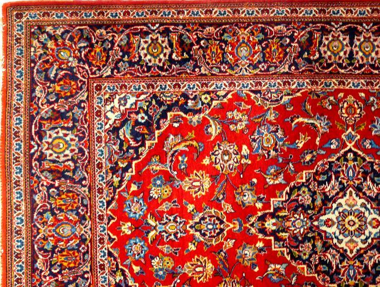 Bild 2: Orientteppich Keschan alt 203x136 (T016)