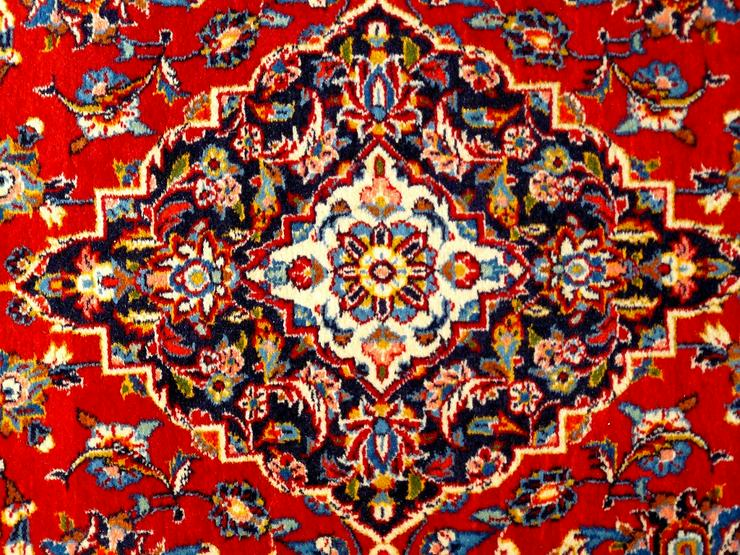 Bild 3: Orientteppich Keschan alt 203x136 (T016)
