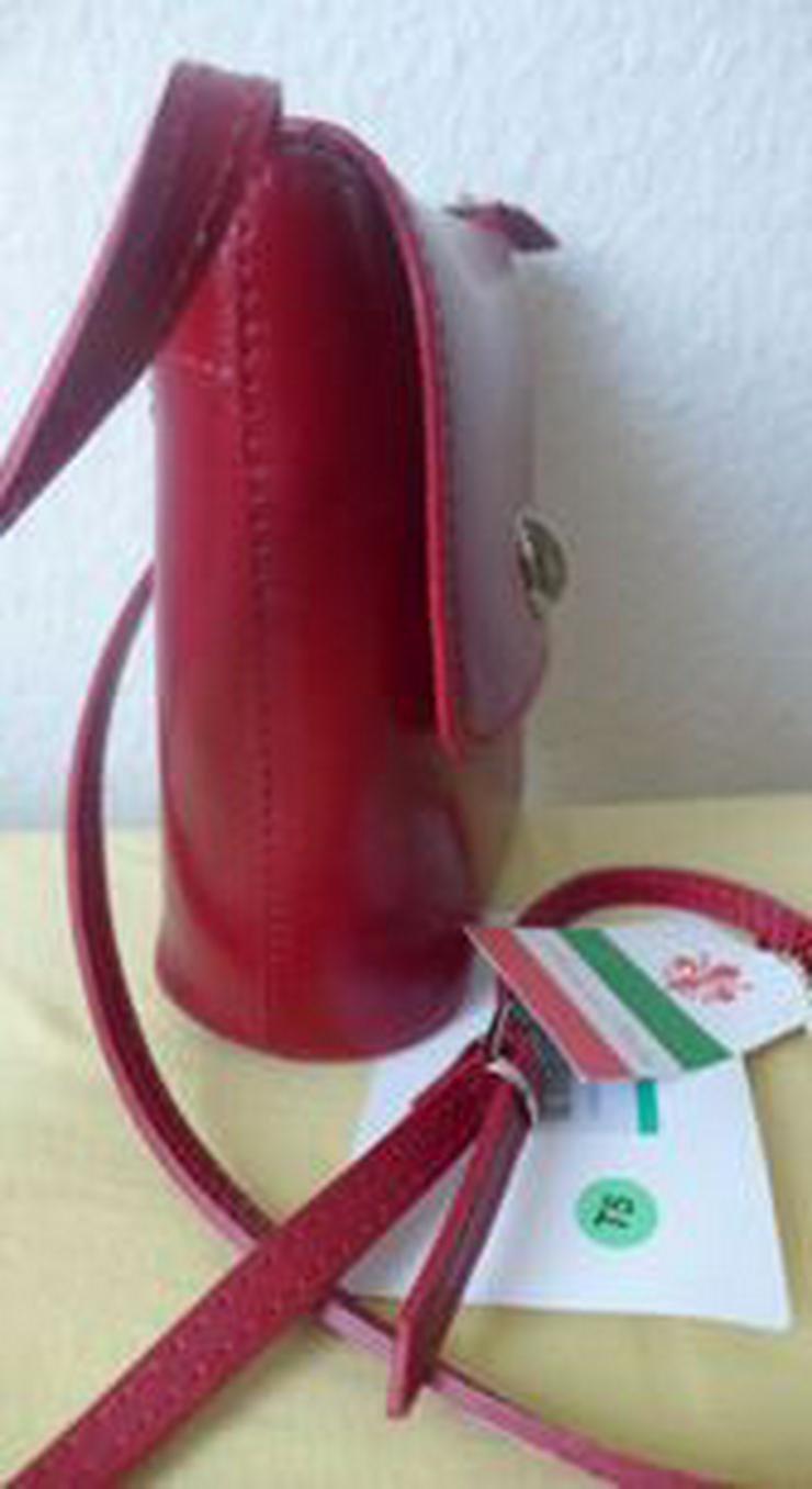 Bild 5: Umhängetasche rot Ledertasche Damentasche Abendtasche Leder LATTE & MIELE NEU