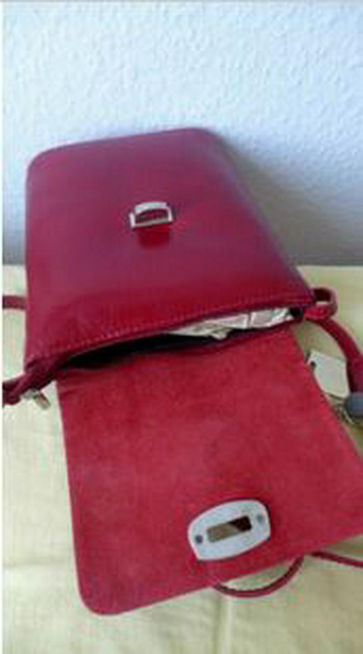Umhängetasche rot Ledertasche Damentasche Abendtasche Leder LATTE & MIELE NEU - Taschen & Rucksäcke - Bild 3