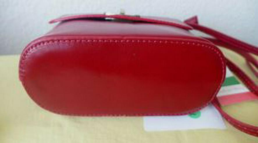 Bild 4: Umhängetasche rot Ledertasche Damentasche Abendtasche Leder LATTE & MIELE NEU