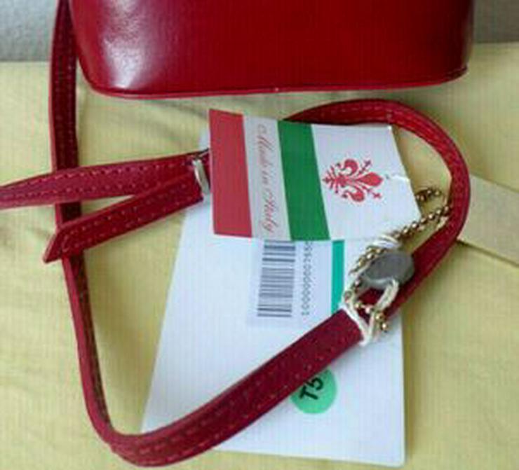 Bild 2: Umhängetasche rot Ledertasche Damentasche Abendtasche Leder LATTE & MIELE NEU