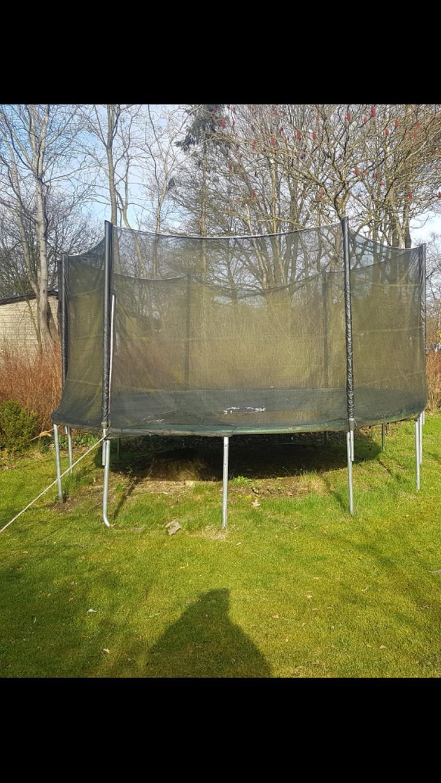 Trampolin 4,30 m mit Netz, Plane, Leiter