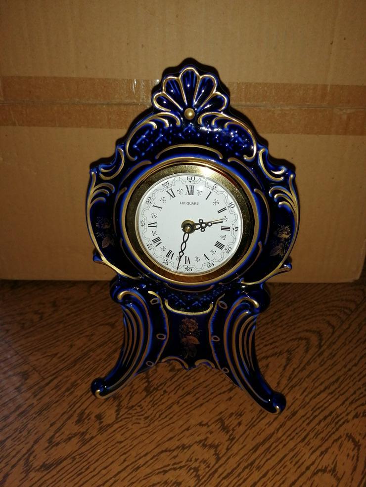 Porzellan Lindner- Uhr Handarbeit