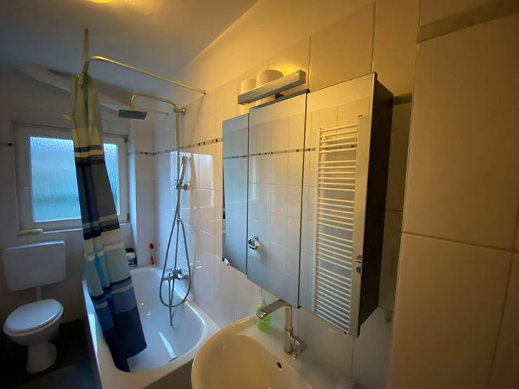 Spiegelschrank Badezimmer (Korpus braun, innen weiß) - 3 Türen