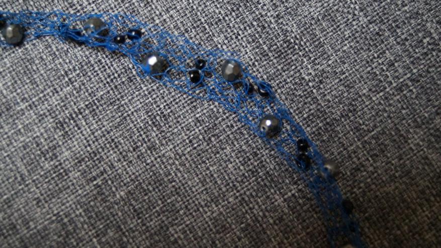 Bild 3: Halsband, blau, Modeschmuck