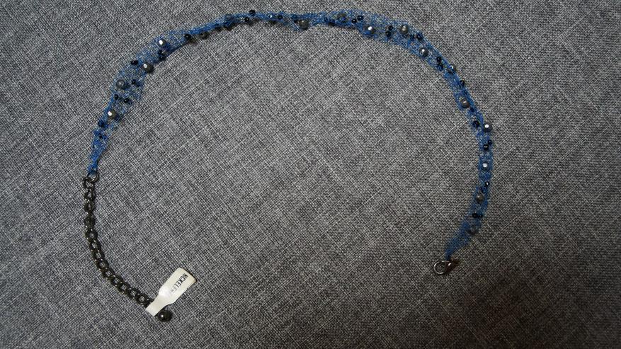 Halsband, blau, Modeschmuck