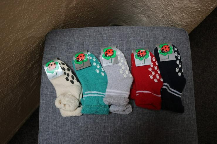 5 Paar ABS-Socken, Gr. 86-92, bunt