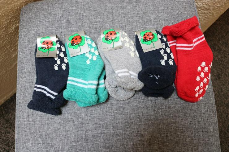 5 Paar ABS-Socken, Gr. 74/80, bunt