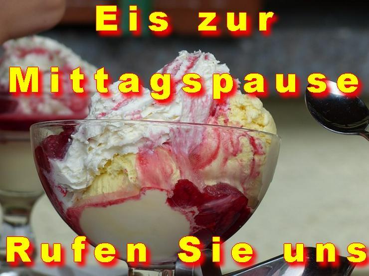 Bild 2: Vanille Eis Sahneeis Erdbeere vom Eiswagen Himbeere Banane Stracciatella Amarena Maracuja Zitrone