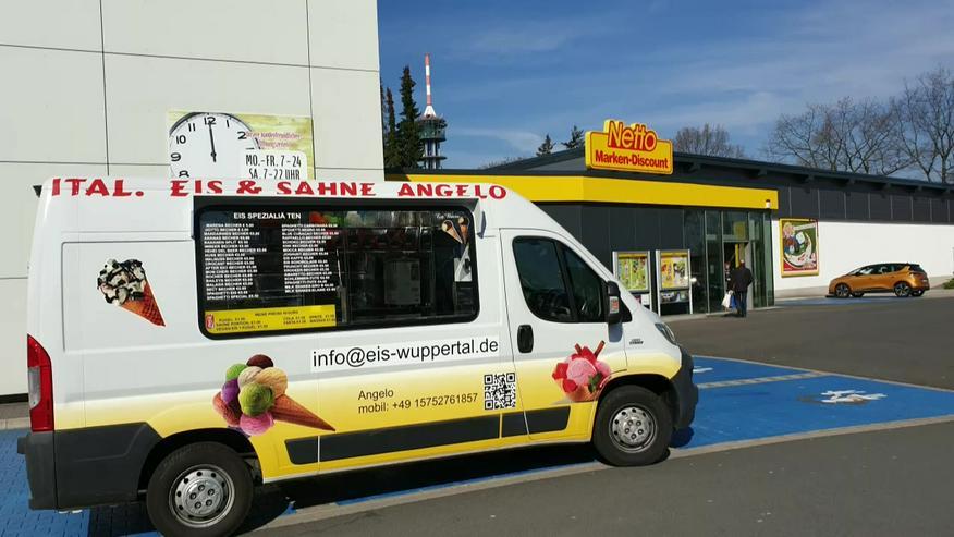 Bild 8: Vanille Eis Sahneeis Erdbeere vom Eiswagen Himbeere Banane Stracciatella Amarena Maracuja Zitrone