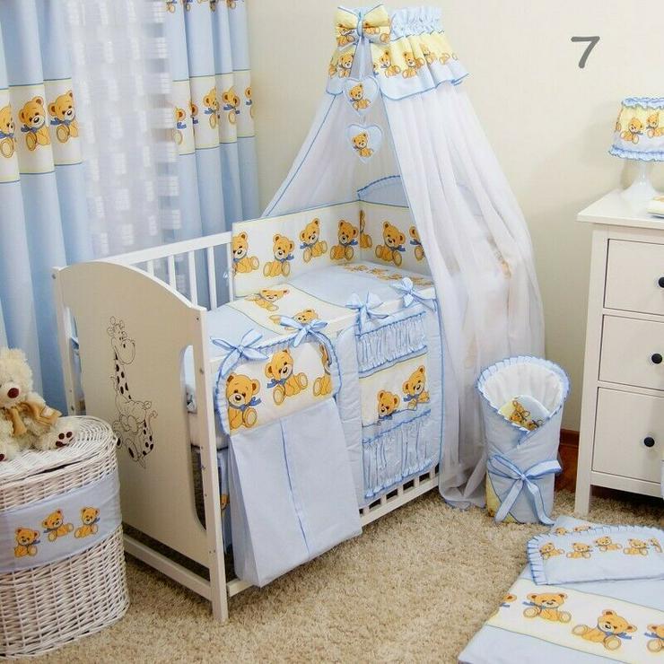 14 tlg. Bettwäsche mit Betthimmel Bettausstattung Schützer Kissenbezug Bettsets