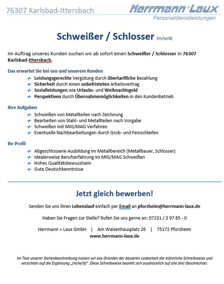 Schweißer / Schlosser (m/w/d)
