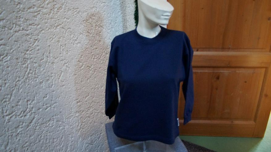 Sweatshirt, Gr. 128, dunkelblau, Kinderbutt - Größen 122-128 - Bild 1