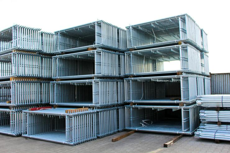 NEU 306qm Gerüst komplettes Set Fassadengerüst 8,5m Arbeitshöhe