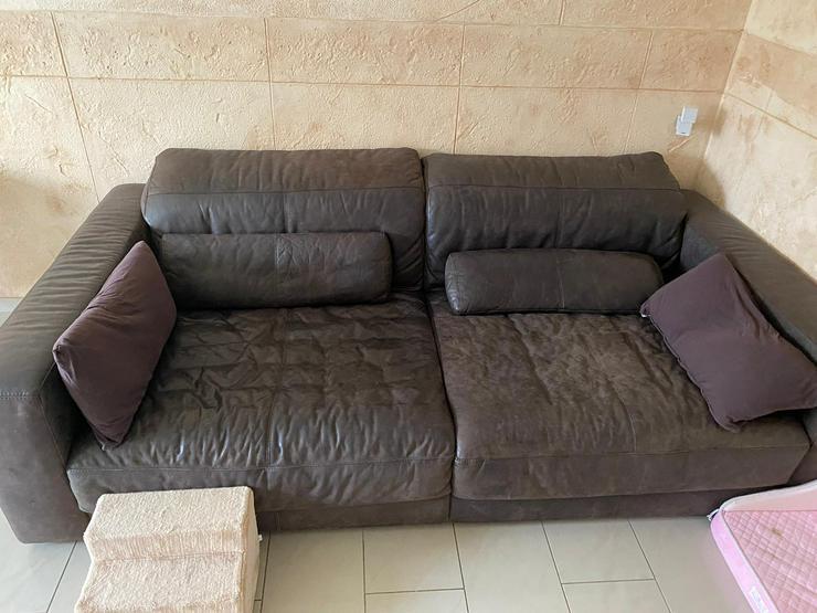 XXXL Echte Leder Couch inkl Hocker