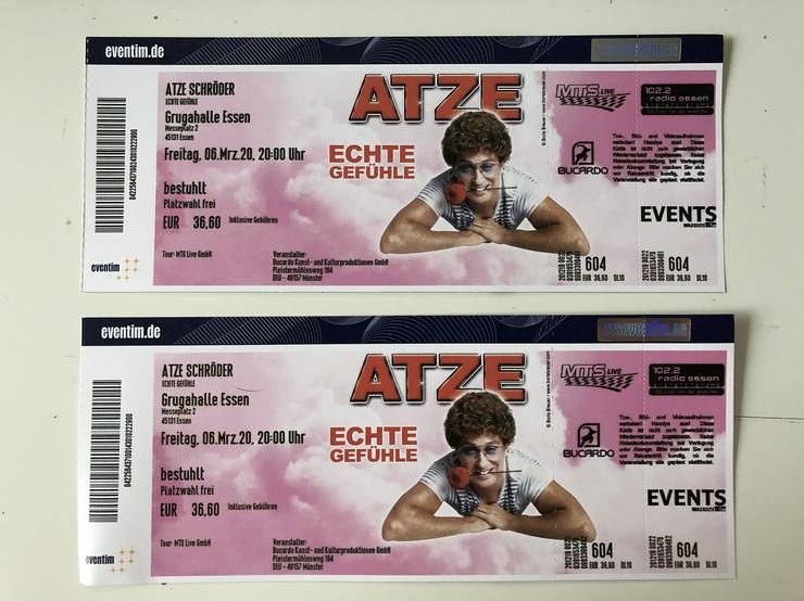 Atze Schröder in Essen am Freitag 6.3.2020 Grugahalle. 2 Eintrittskarten zu verkaufen.