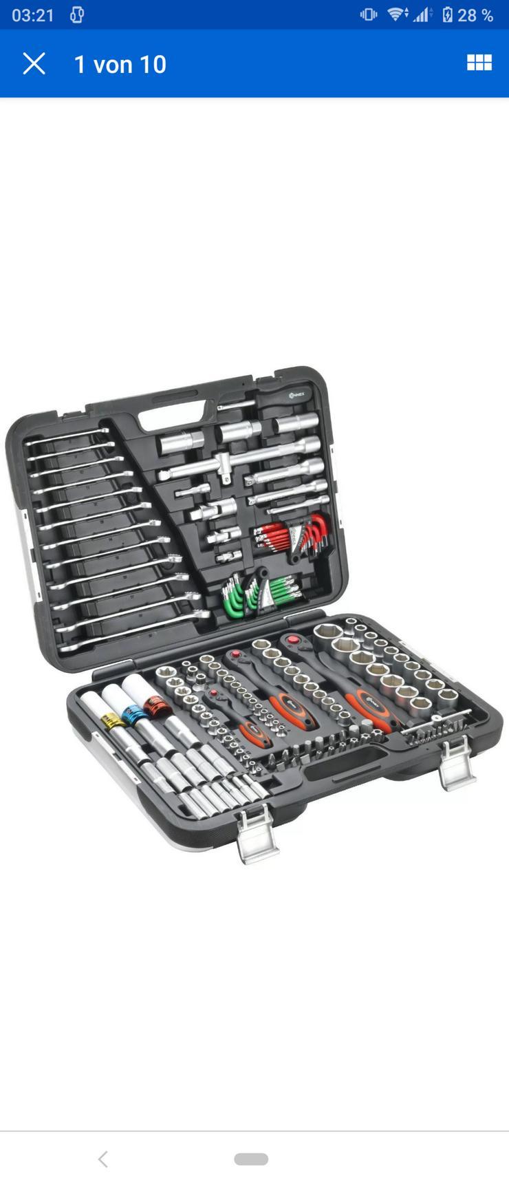 CONNEX Premium - Werkzeugkoffer / Steckschlüsselset KFZ, 160-teilig,