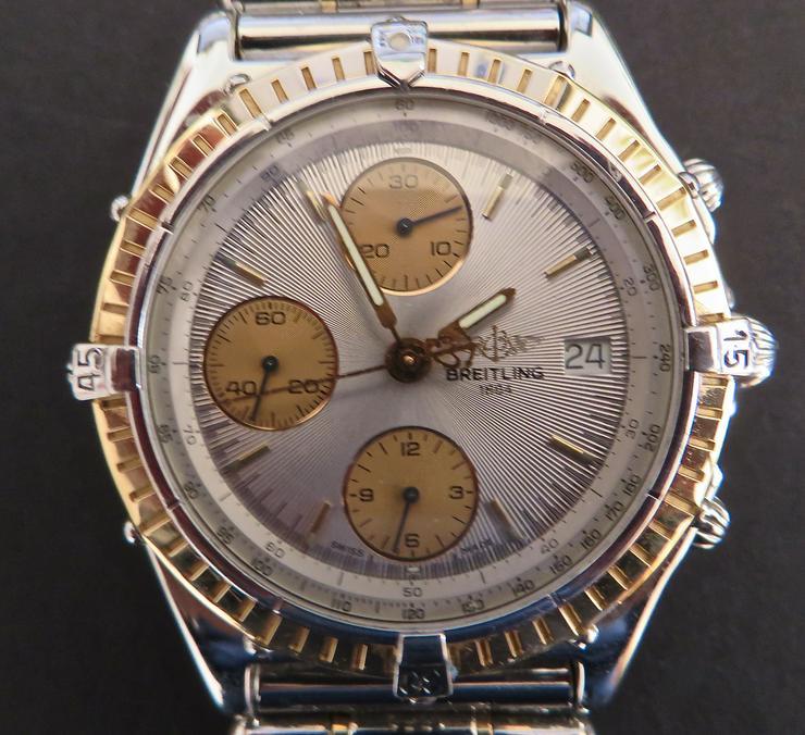 Breitling Chronograph Rosegold/Stahl 18 Kt. - Herren Armbanduhren - Bild 1