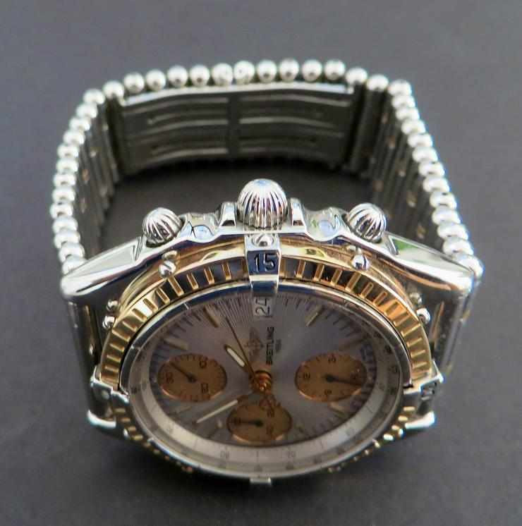 Bild 5: Breitling Chronograph Rosegold/Stahl 18 Kt.
