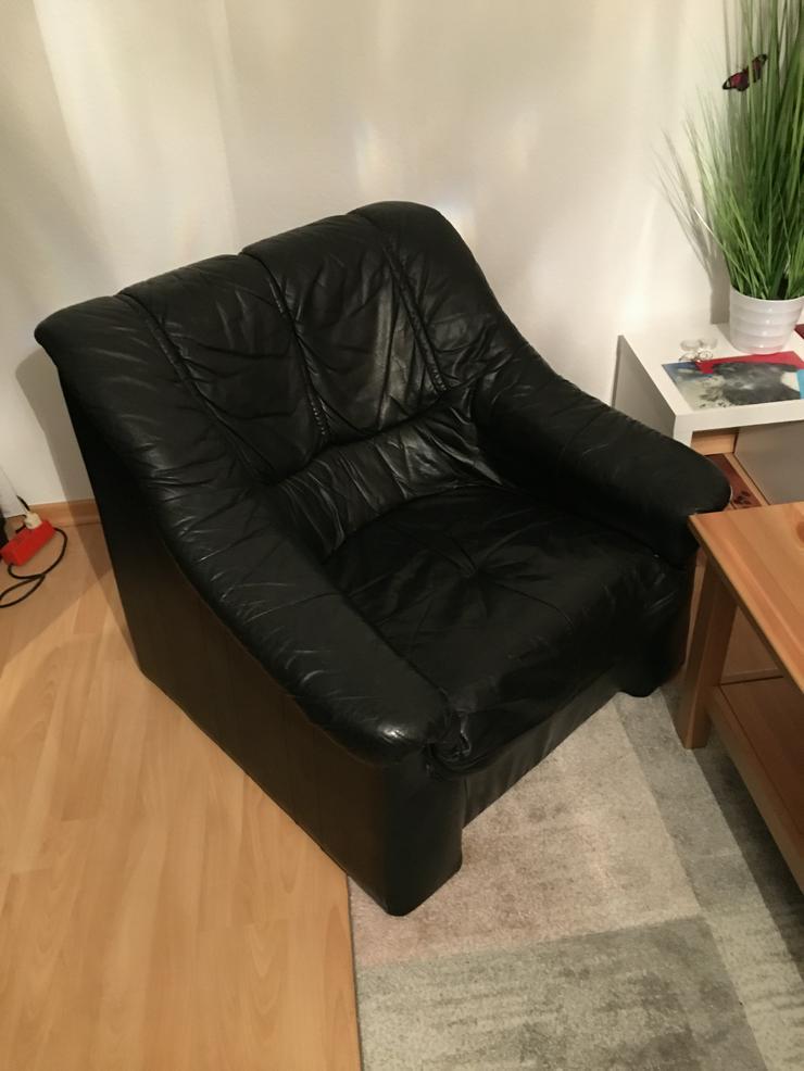 Couch Garnitur schwarz