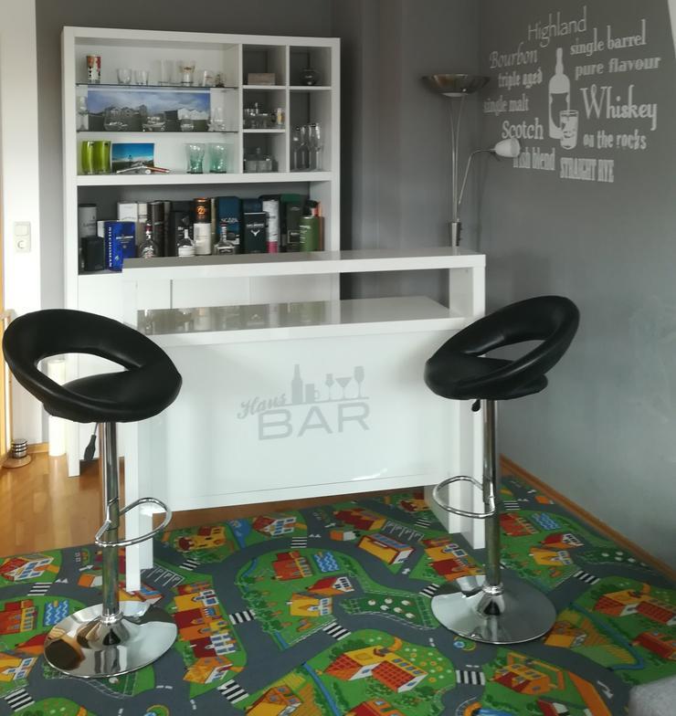 Bar weiß hochglanz inkl Barhocker
