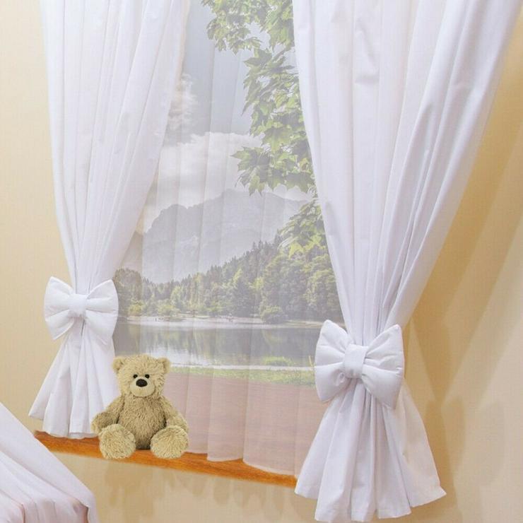 Kinderzimmer Babygardinen Vorhänge Schlaufen Kinder Baby Gardinen 2x 155x155cm