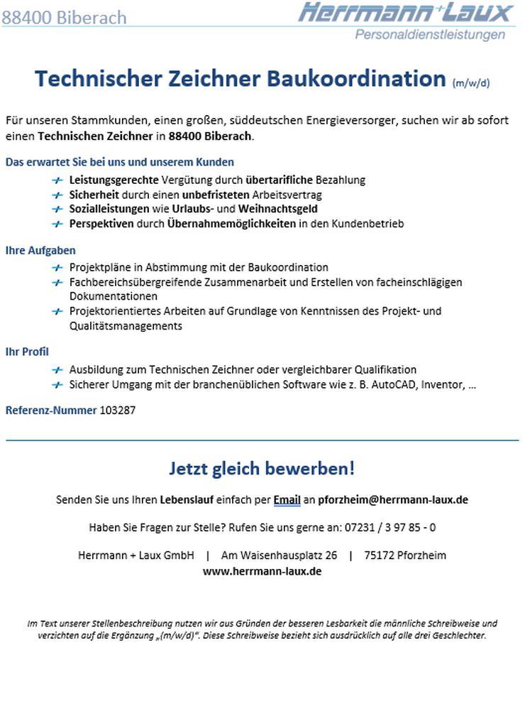 Technischer Zeichner Baukoordination (m/w/d)