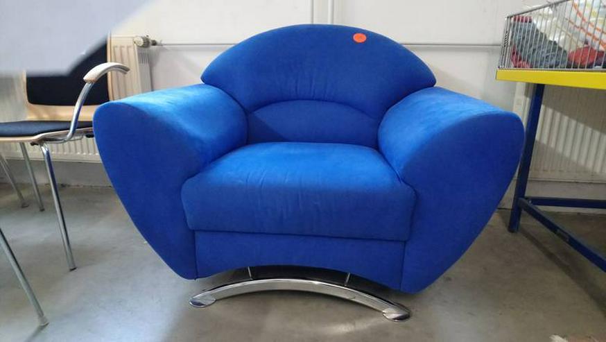 Sessel blau modernes Design Loungesessel günstig